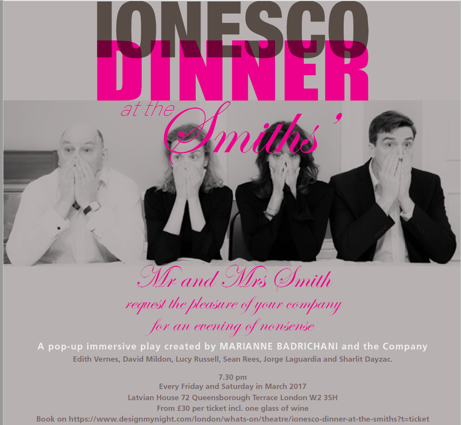 Ionesco Dinner at The Smiths